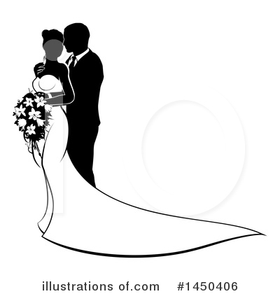 Wedding Couple Clipart #1450406 by AtStockIllustration