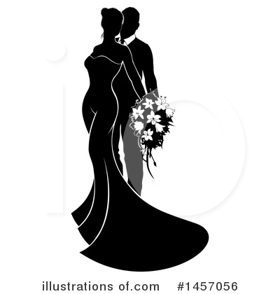 Wedding Couple Clipart #1457056 by AtStockIllustration