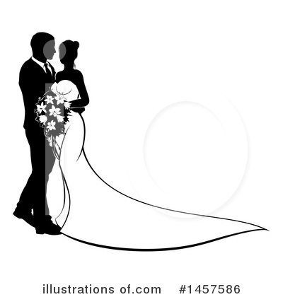 Wedding Couple Clipart #1457586 by AtStockIllustration