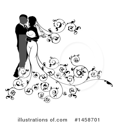 Wedding Couple Clipart #1458701 by AtStockIllustration