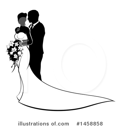 Wedding Couple Clipart #1458858 by AtStockIllustration