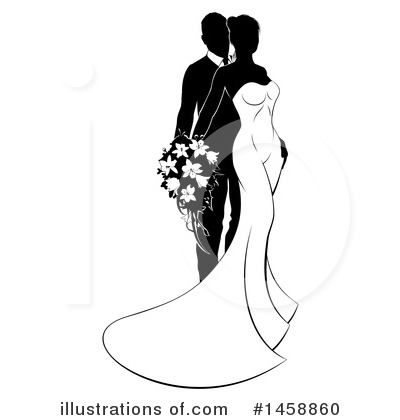 Wedding Couple Clipart #1458860 by AtStockIllustration