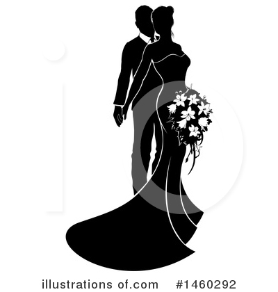 Wedding Couple Clipart #1460292 by AtStockIllustration