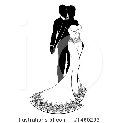 Wedding Couple Clipart #1460295 by AtStockIllustration