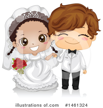 Wedding Couple Clipart #1461324 by BNP Design Studio