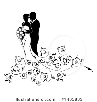 Wedding Couple Clipart #1465863 by AtStockIllustration