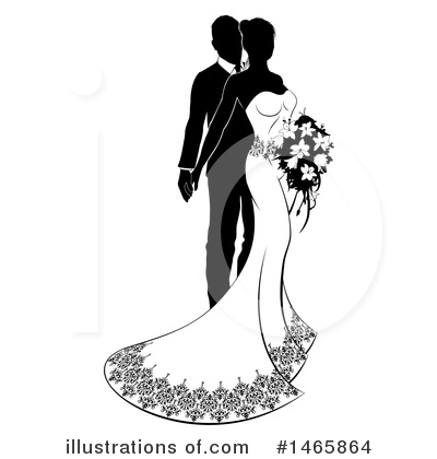 Wedding Couple Clipart #1465864 by AtStockIllustration