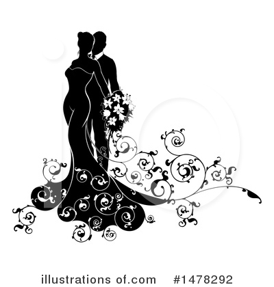 Bride Clipart #1478292 by AtStockIllustration