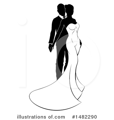 Bride Clipart #1482290 by AtStockIllustration