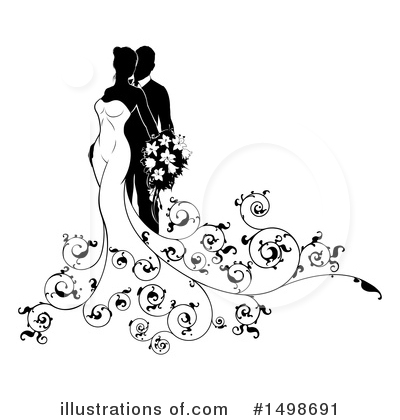 Bride Clipart #1498691 by AtStockIllustration