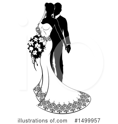 Bride Clipart #1499957 by AtStockIllustration