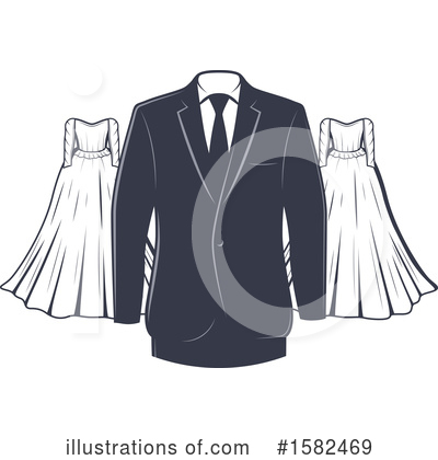 Wedding Dress Clipart #1582469 by Vector Tradition SM