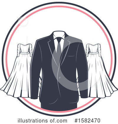 Wedding Dress Clipart #1582470 by Vector Tradition SM