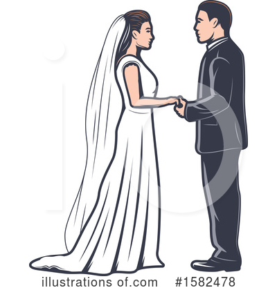 Royalty-Free (RF) Wedding Clipart Illustration by Vector Tradition SM - Stock Sample #1582478