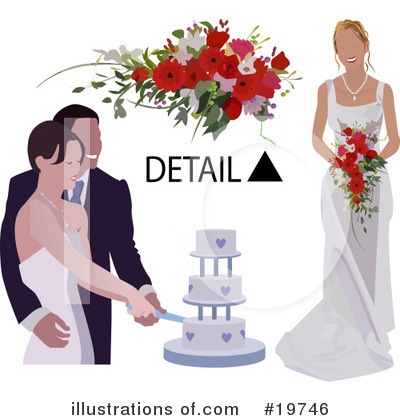 Royalty-Free (RF) Wedding Clipart Illustration by Geo Images - Stock Sample #19746