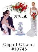 Royalty-Free (RF) Wedding Clipart Illustration #19746