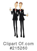 Royalty-Free (RF) Wedding Clipart Illustration #215260