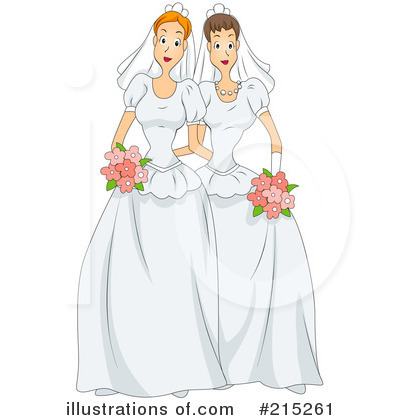 Royalty-Free (RF) Wedding Clipart Illustration by BNP Design Studio - Stock Sample #215261