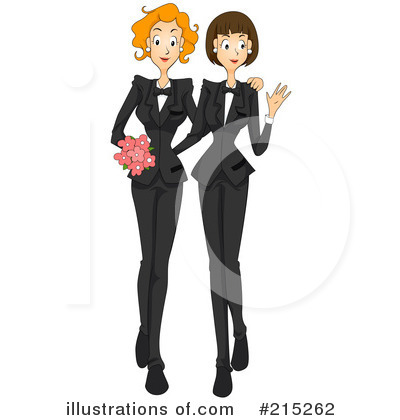 Royalty-Free (RF) Wedding Clipart Illustration by BNP Design Studio - Stock Sample #215262