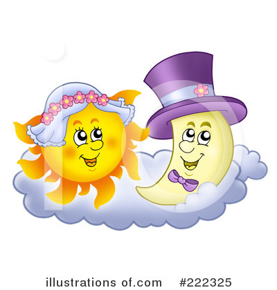 Sun And Moon Clipart #222325 by visekart