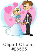 Royalty-Free (RF) wedding Clipart Illustration #26635