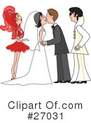 Royalty-Free (RF) Wedding Clipart Illustration #27031
