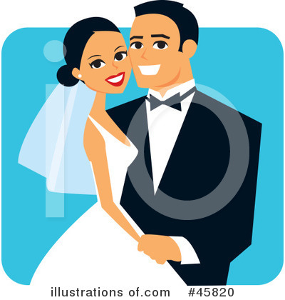 Royalty-Free (RF) Wedding Clipart Illustration by Monica - Stock Sample #45820