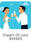 Royalty-Free (RF) Wedding Clipart Illustration #45823