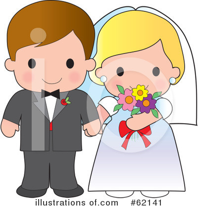 Royalty-Free (RF) Wedding Clipart Illustration by Maria Bell - Stock Sample #62141