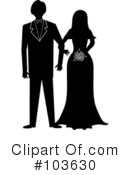 Royalty-Free (RF) Wedding Couple Clipart Illustration #103630