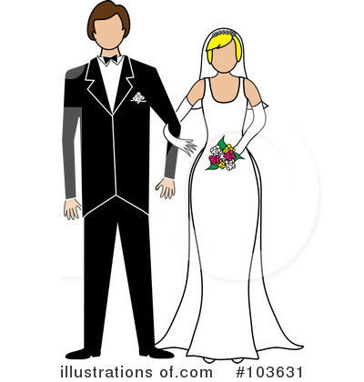 Wedding Couple Clipart #103631 by Pams Clipart