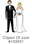 Royalty-Free (RF) wedding couple Clipart Illustration #103631