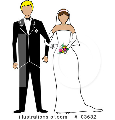 Wedding Couple Clipart #103632 by Pams Clipart