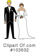 Royalty-Free (RF) wedding couple Clipart Illustration #103632
