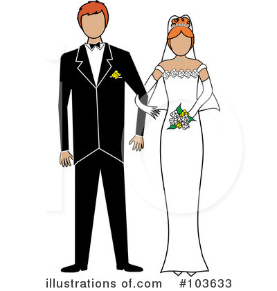 Wedding Couple Clipart #103633 by Pams Clipart