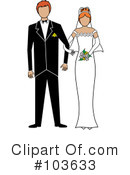 Royalty-Free (RF) wedding couple Clipart Illustration #103633