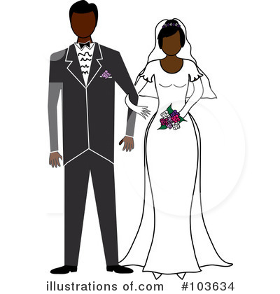 Wedding Couple Clipart #103634 by Pams Clipart