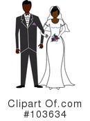 Royalty-Free (RF) wedding couple Clipart Illustration #103634