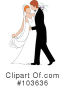 Wedding Couple Clipart #103636 by Pams Clipart