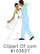 Royalty-Free (RF) wedding couple Clipart Illustration #103637