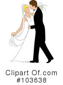 Royalty-Free (RF) wedding couple Clipart Illustration #103638
