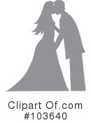 Royalty-Free (RF) Wedding Couple Clipart Illustration #103640