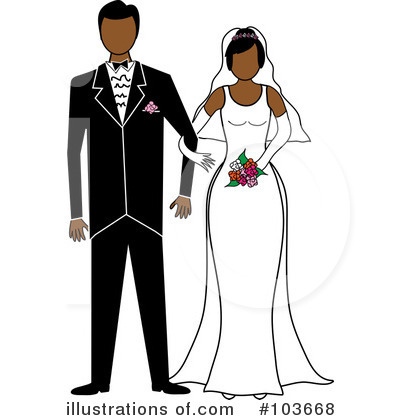 Wedding Couple Clipart #103668 by Pams Clipart