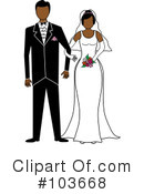 Royalty-Free (RF) wedding couple Clipart Illustration #103668