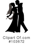 Royalty-Free (RF) wedding couple Clipart Illustration #103672