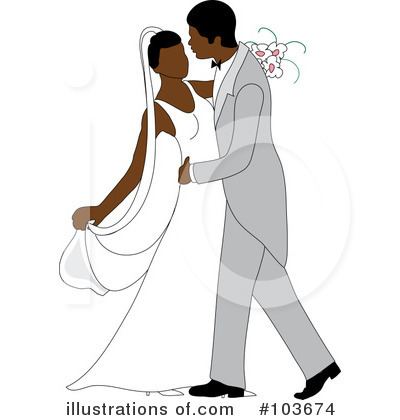 Wedding Couple Clipart #103674 by Pams Clipart