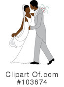 Royalty-Free (RF) Wedding Couple Clipart Illustration #103674