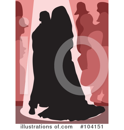 Royalty-Free (RF) Wedding Couple Clipart Illustration by Prawny - Stock Sample #104151