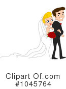 Royalty-Free (RF) wedding couple Clipart Illustration #1045764