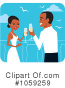 Royalty-Free (RF) Wedding Couple Clipart Illustration #1059259